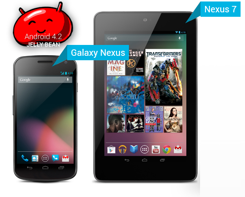 Android 4.2 Jelly Bean Rollout Nexus devices