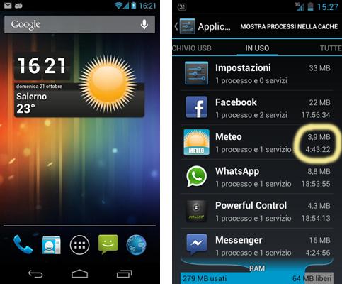 Meteo Widget Android